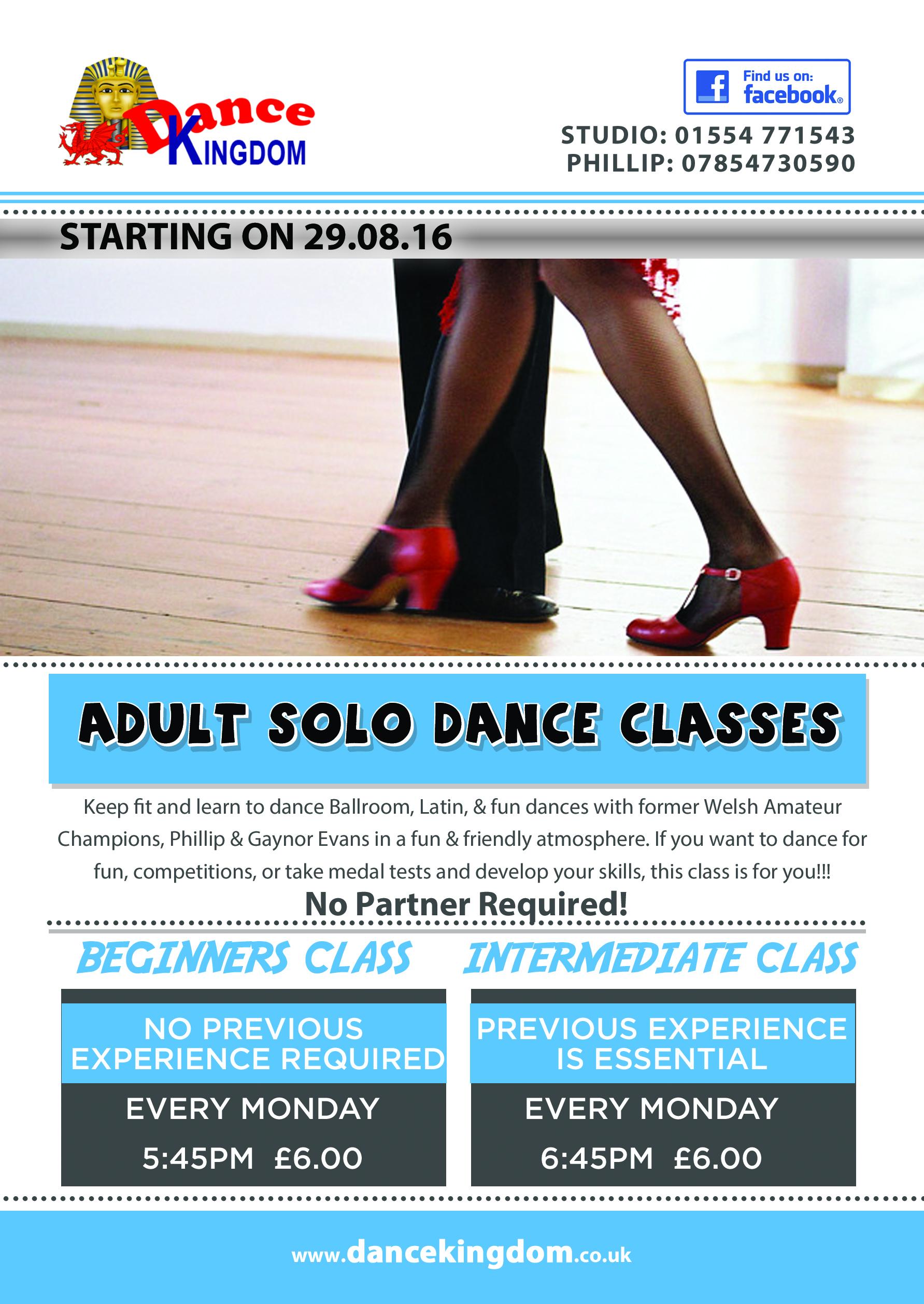 Adult Solo Beginner Dance Class